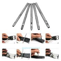 5pcs Steel Hollow Punch Set DIY Tool Gasket Belt Hole Punching Leather Hand Tool