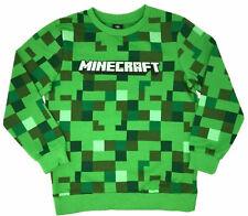 Boys Minecraft Jumper Kids Jersey Sweatshirt Top Creeper Ages 5 6 7 8 9 10