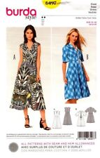 Burda Sewing Pattern 6497 Burda Style Womens Dress Size 8-20