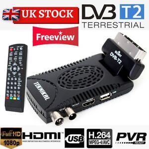 TEKNIKAL HD Scart Freeview Receiver & Recorder Set Top Box 4 Digital TV Channels
