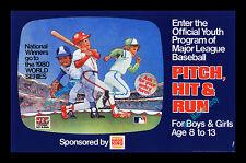 Burger King PITCH, HIT & RUN Baseball Card WORLD SERIES CONTEST TRANSLITE POSTER