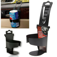 UNIVERSAL Vehicle Car Truck Drinks Cup Bottle Holder Door Mount Stand Black NEW