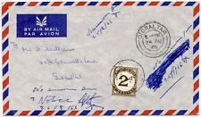 GIBRALTAR POSTAGE DUE INTERNAL 1966 POSTED UNPAID + CHARGED 2d SINGLE FRANKING