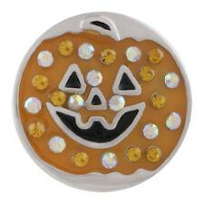 Pumpkin Magnolia Vine Jewelry 18mm Fits Ginger Snap Snaps Rhinestone Halloween