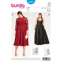 Burda 6487 Sewing Pattern Special Occasion Prom Bridal Formal Large Sizes 18-28