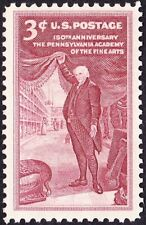US - 1955 - 3 Cents Rose Brown Pennsylvania Academy Fine Arts #1064 Mint NH F-VF