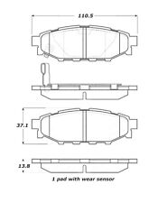 StopTech Street Brake Pads fits 2005-2009 Subaru Outback Legacy Forester  STOPTE