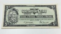 1974 Canadian Tire 5 Cents CTC-S4-B-BN Circulated Money Banknote D126
