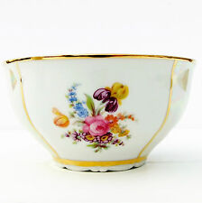 Vintage Haas & Czjzek Floral Gold Lustre Sugar Bowl
