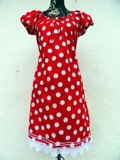 Knielange Damenkleider aus Baumwollmischung in Größe 40