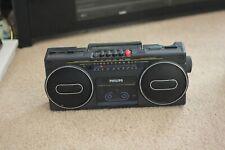 Vintage Raro Estéreo Radio Cassette Grabador Phillips 1985-condiciones de trabajo