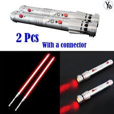 YDD 2Pcs Lightsaber Sword Darth Maul Dueling Sliver Hilt Force Jedi Toy Cosplay