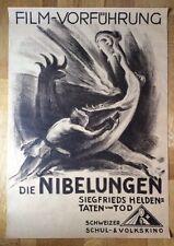 Nibelungen (schweiz. Originalpl. 1924) - Fritz Lang / Stummfilm / Silent Movie