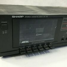 Vintage Sharp Cassette Deck Rt-115 Single Stereo Black Tested Audio Music