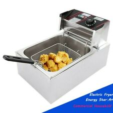 A 2500w Electric Countertop 6l16gal Extra Large Deep Fryer Withfry Basket New