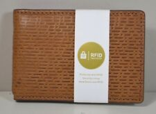 NWT FOSSIL COBY MONEY CLIP BIFOLD COGNAC BROWN RFID LEATHER WALLET ML3916B222
