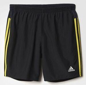 "Adidas Running, Walking, Workout Shorts, S93826, 7"" Inseam, Black/Neon Green NEW"