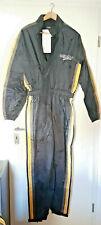 GERMAS Motorrad Regenkombi, einteilig, schwarz/gelb, reflektierend, Gr.L,