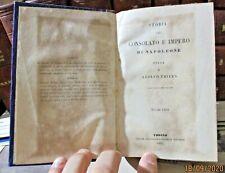 STORIA DEL CONSOLATO E DELL'IMPERO DI NAPOLEONE di THIERS - 1845/62 (12 VOLUMI)
