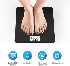 200KG Electronic Bathroom Scales Glass Measure Body Gym Weight LCD Fat Scale