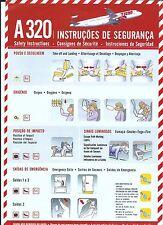 Safety Card - TAM - A320 - c2007 (Brazil) (S1596)