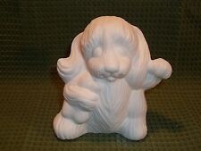 Puppy with Bone, Left Paw Up, Doc Holliday Mold  - Ceramic Bisque Ready to Paint