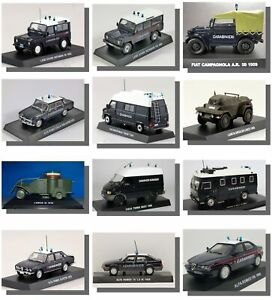 Model cars Italian, Police and Military Vehicles 1:43   1/24 Motorbikes