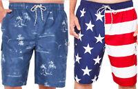 NWT Foundry Big Tall Swim Trunks 2X 3X 4X 5X Flag Hawaiian Cargo shorts JCSP34