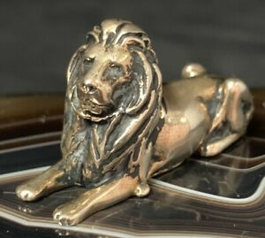Esther Gallant Lion Pendant Gold Plated NYC Public Library Lion?