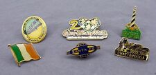 Lot of 6 Travel Souvenir Pinback Pins - Disney 2000 Italy Santa Fe Lighthouse