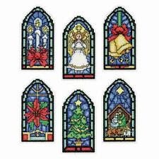 """Design Worksâ""""¢ Stained Glass I Ornaments Counted Cross-Stitch Kit"""