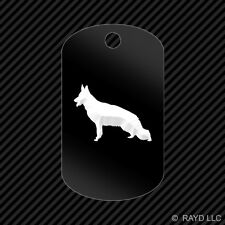 German Shepherd Keychain GI dog tag engraved many colors  dog canine pet