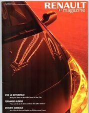 Renault Magazine Winter 2005 UK Market Brochure Clio Scenic Laguna Egeus F1