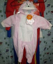🐺warm Infant PINK CAT PANTHER COSTUME 3-6 M NEW 1pc SUIT KITTY NWT HOOD/GLOVES