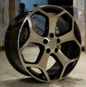 """x4 18"""" Ford St Style Alloys 5x108 ET40 8J Focus St RS Mondeo Kuga Black Polished"""