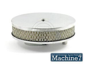 Classic VW Beetle Pancake Air Filter Chrome Renewable Paper Filter Solex 34 Bug