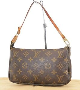 Authentic LOUIS VUITTON Accessory Pochette Monogram Handbag #38078