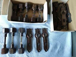1930's Art deco Door Knobs/handles  & Plates 8 sets