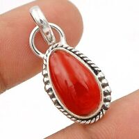 Natural Carnelian 925 Sterling Silver Pendant Jewelry, ED24-6