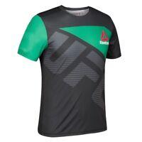 Reebok UFC Official BBG (Black/Green) Fight Kit Walkout Jersey Men's