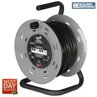 SMJ CTH2513 25M 4 Extension Socket Heavy Duty Cable Reel Cutout 13amp
