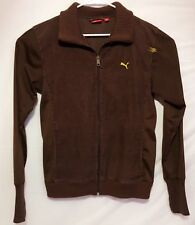 Puma Women's Brown Cotton Corduroy Long Sleeve Full Zip Jacket Size S