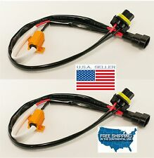 2x 9006 9005 H10 LED DRL Lamp No Error Load Resistors Wiring Harness CanBUS CREE