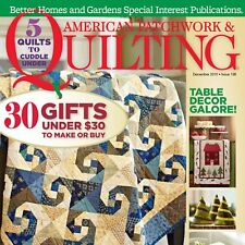 American Patchwork & Quilting Magazine December 2015 Table Decor Brand NEW