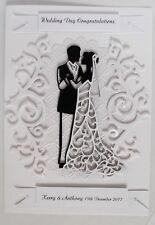 Personalised Handmade Wedding / Anniversary Card Bride & Groom