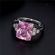 Pink Cubic Silver Splendid CZ Gorgeous Bridal Wedding Ring ( size:8.5 )