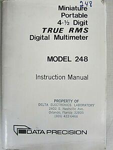Data Precision Model 248 Miniature Portable 4-1/2 Multimeter Instruction Manual