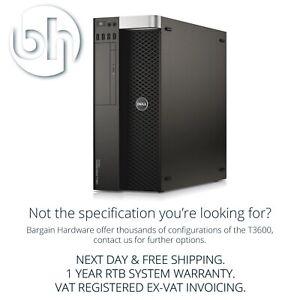 Dell Precision T3600 Otto 8-Core Xeon Workstation Quadro GFX 32GB RAM Torre