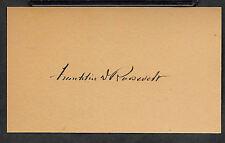Franklin D Roosevelt Autograph Reprint On Original Period 1940s 3X5 Card