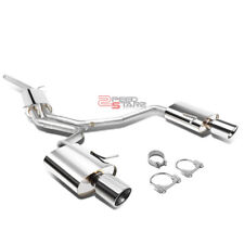 "FOR 06-09 AUDI A4 2.0L TURBO 4"" STAINLESS STEEL DUAL SLANT TIP CATBACK EXHAUST"